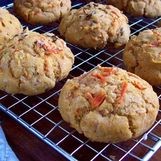 Gluten free vegan double carrot scones.