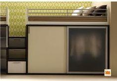 Idee Cabina Armadio Kubo : Letto a soppalco con cabina armadio letto a soppalco pinterest