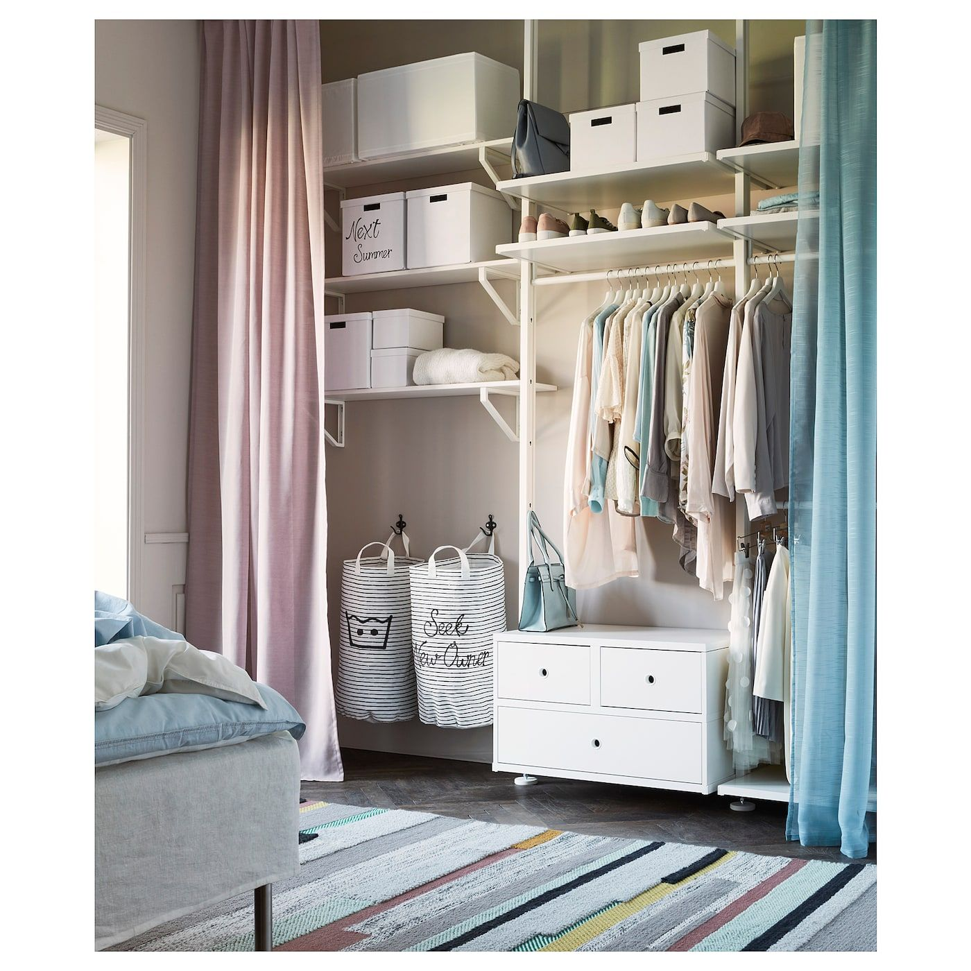 IKEA TJENA Storage box with lid white Storage boxes