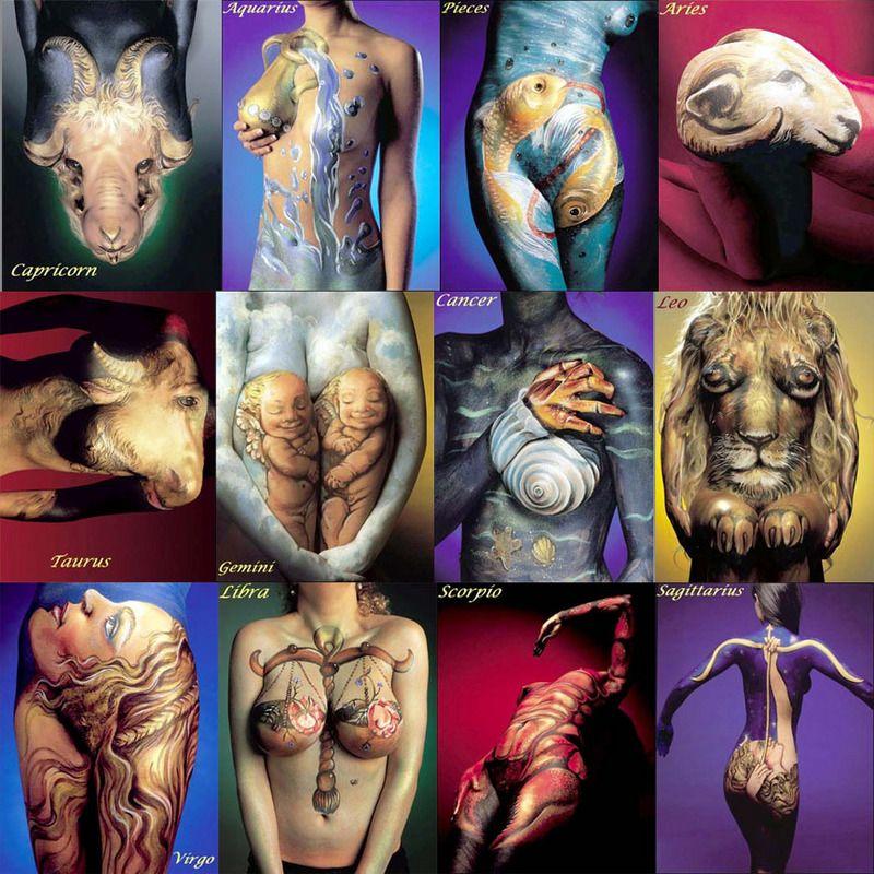 Capricorn Zodiac Tattoo Designs Zodiac Tattoos For Women - Amazing body art transforms people animals human organs