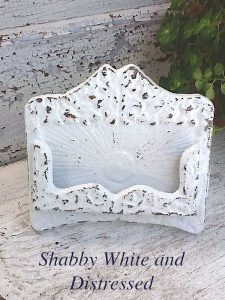 Rustic chic business card holder autumn fall home white wedding rustic chic business card holder bright cast iron white wedding old fashioned colourmoves