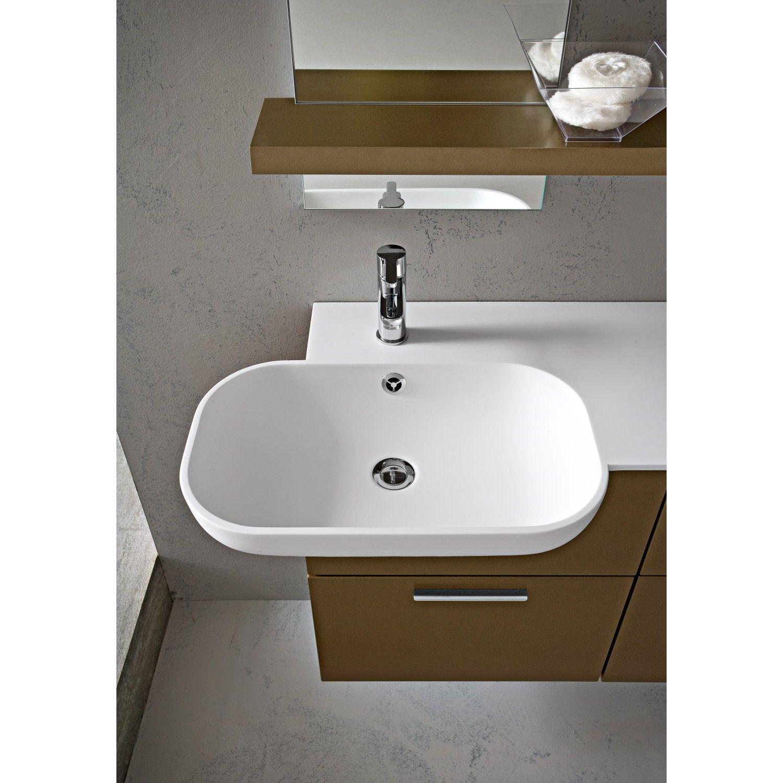 Arredo bagno con lavabo semincasso Dixi Aquna 57 Piano in