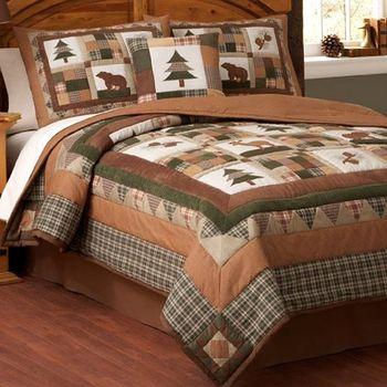 Moose Lodge Full/Queen Quilt & 2 Shams | Cabin Ideas | Pinterest ... : moose lodge quilt set - Adamdwight.com