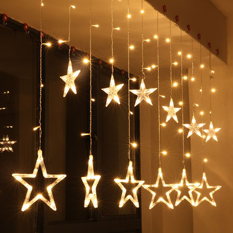 kcasa 2 5m 110 220v led star string lights led fairy light for
