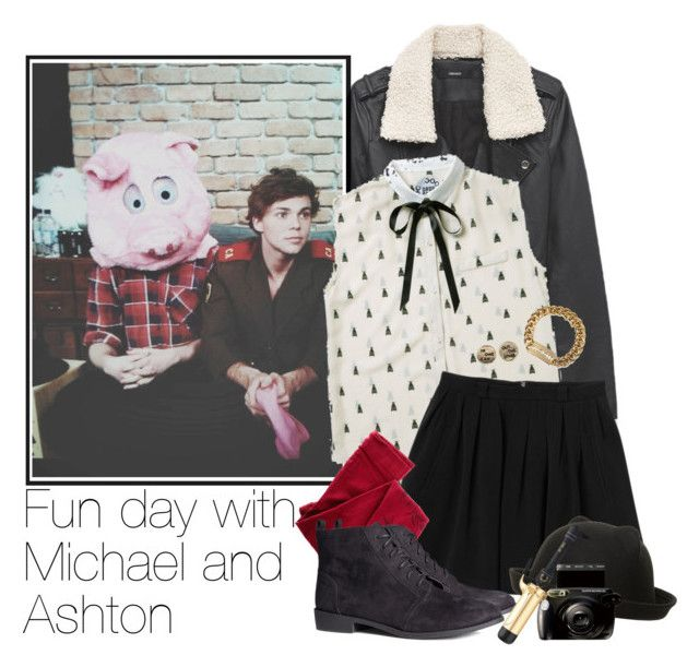 """""""Fun day with Michael and Ashton"""" by acc70913 ❤ liked on Polyvore featuring Forever 21, Monki, ZOHARA, H&M, Dorothy Perkins and McQ by Alexander McQueen"""