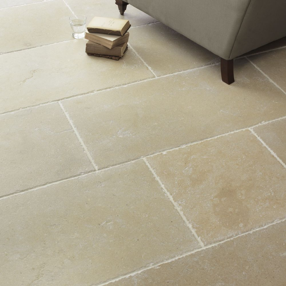 Limestone tile flooring ecr6m9nd for the home for Pictures of floor tiles for kitchens