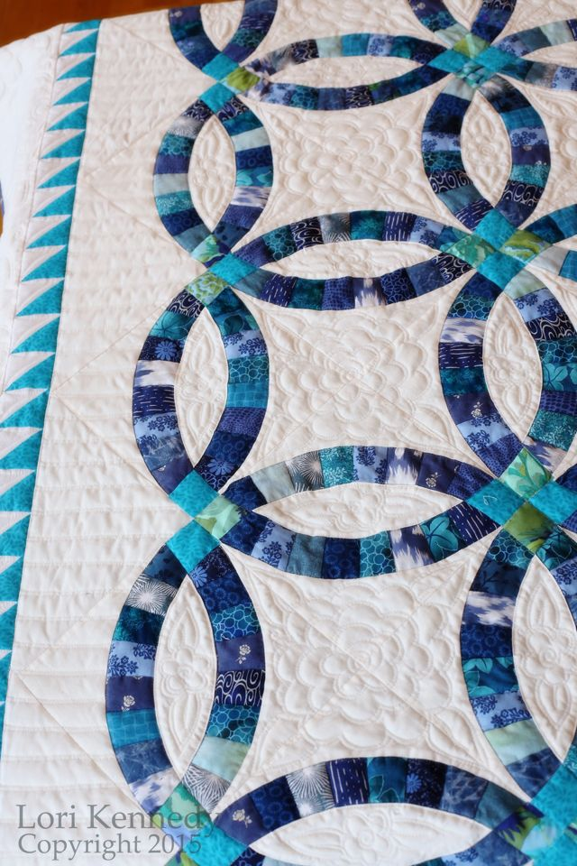 Double Wedding Ring Quilting FREE tutorial available Lori Kennedy