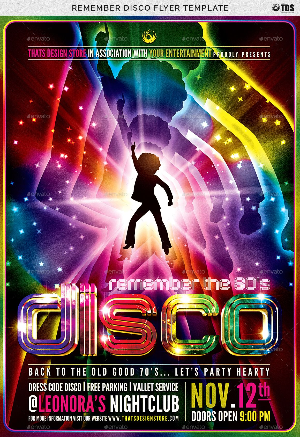 Remember Disco Flyer Template Ad Disco Ad Remember