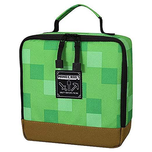 NWT Jinx Minecraft square  Insulated lunch Box Bag tote school lunchbox