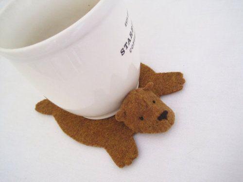 Bearskin Rug Coasters Don T Think