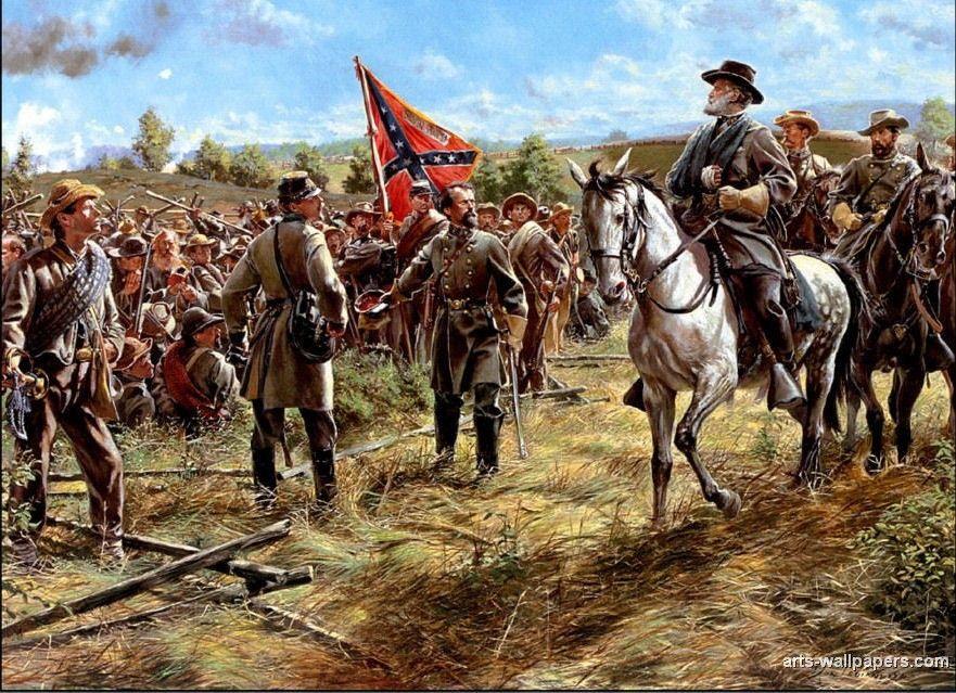 General Lee Civil War Art Civil War Artwork Civil War