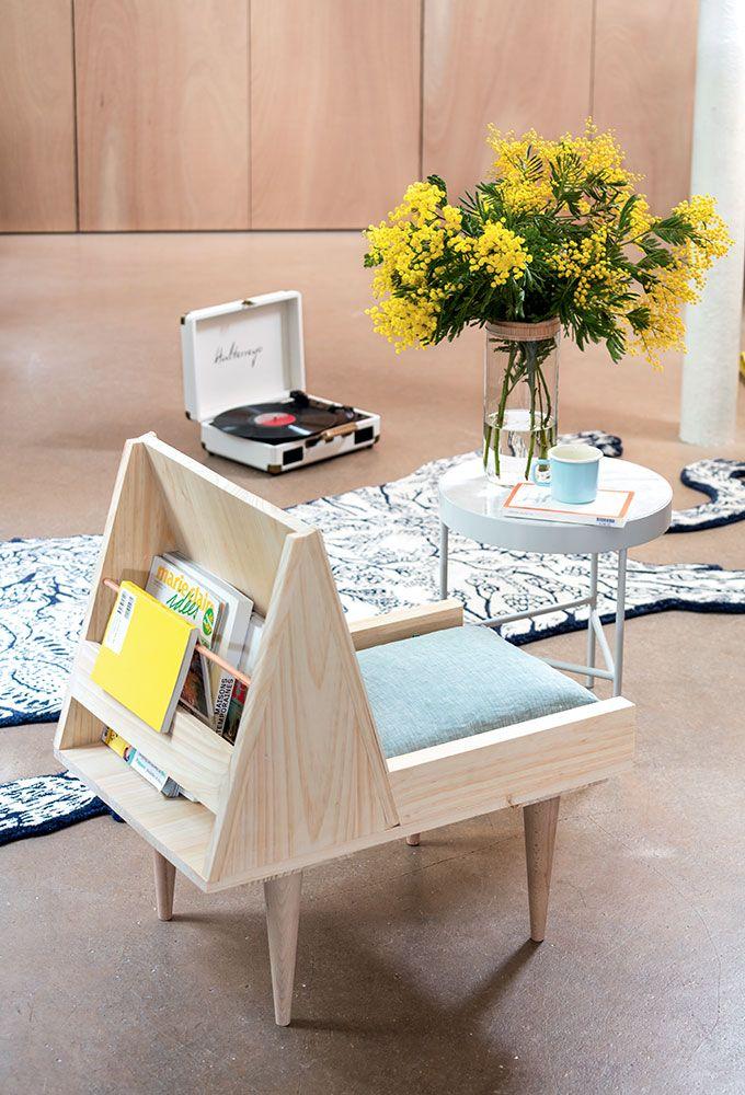 Diy d co un fauteuil d 39 appoint astucieux et pratique for Muebles gava