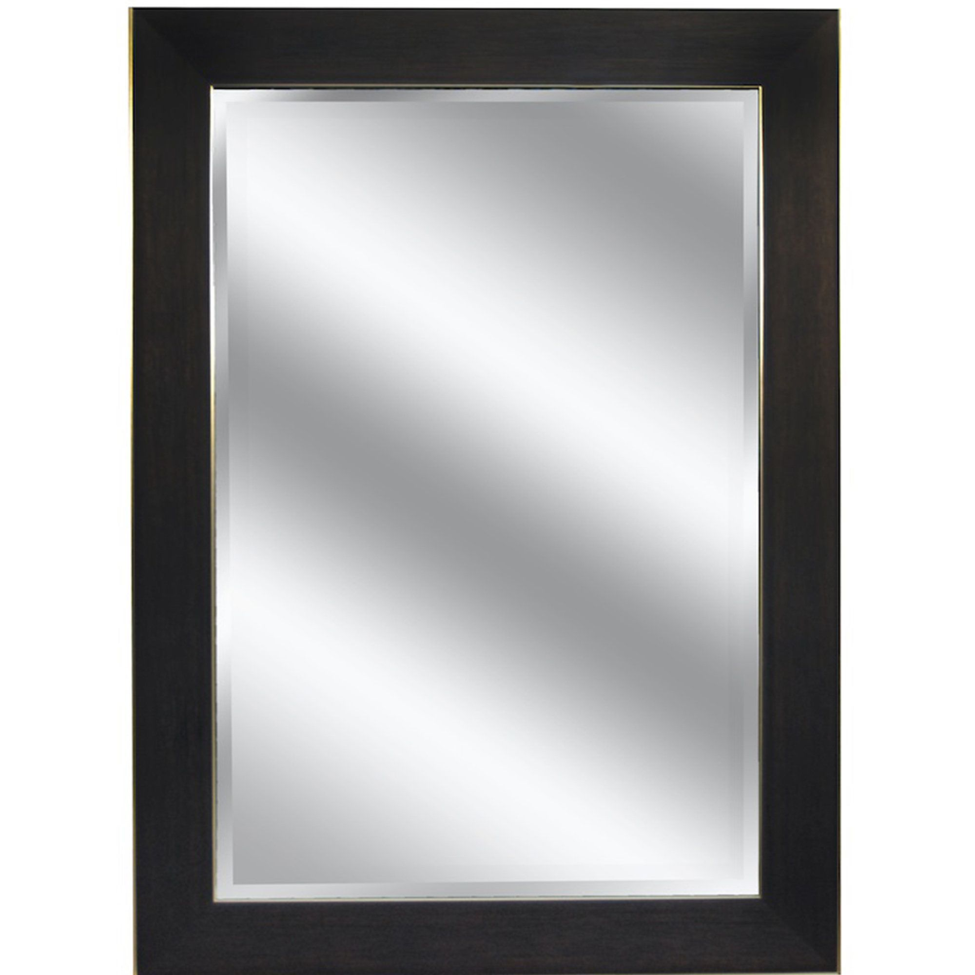 Mirror Dark Bronze with Wood Grain Color Frame Reflection 23x27 1 ...