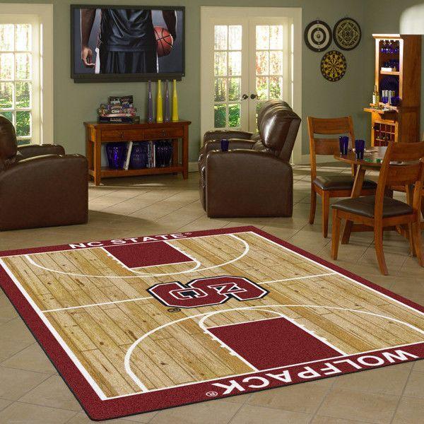 North Carolina State NCAA Home Court Basketball Rug