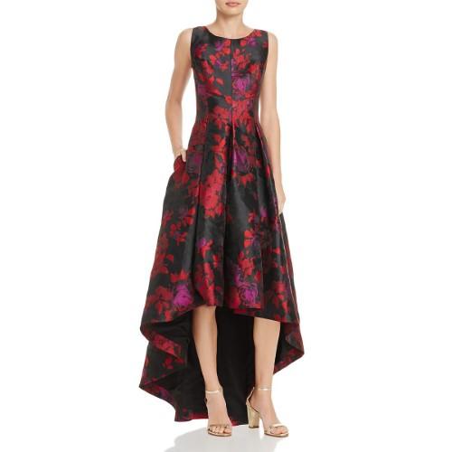 b4edb9247c Eliza J Womens Floral Hi-Low Evening Dress