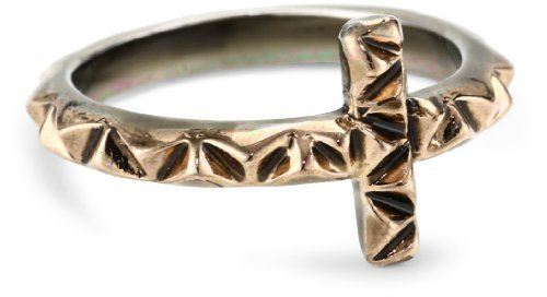 House of Harlow 1960 Rose Gold-Plated Faceted Metal Cross Stack Ring, Size 6 - $26.96 - 40% off.