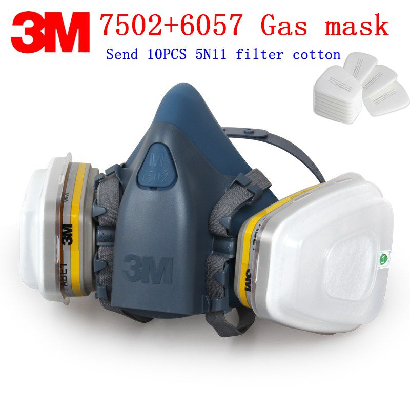 daniu 6200 n95 double gas mask