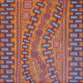 Matthew West Tjupurrula, 91 x 91 cm, 2011