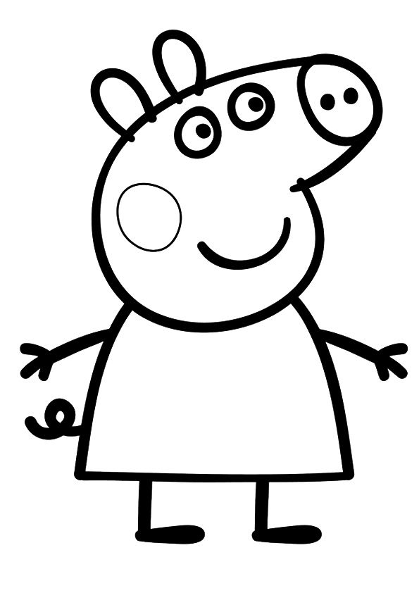 print coloring image Birthdays and Craft - new free coloring pages for peppa pig