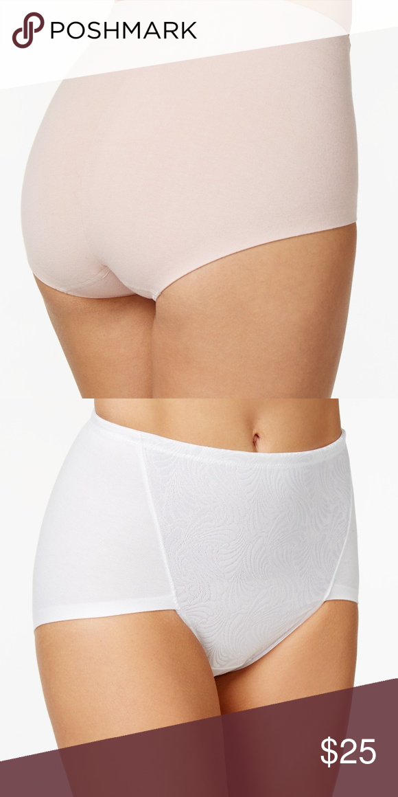 f4f9863d7c4b1 NWT DF6510 2-Pack Ultra Tummy-Control Cotton Brief Smooth your tummy to  create