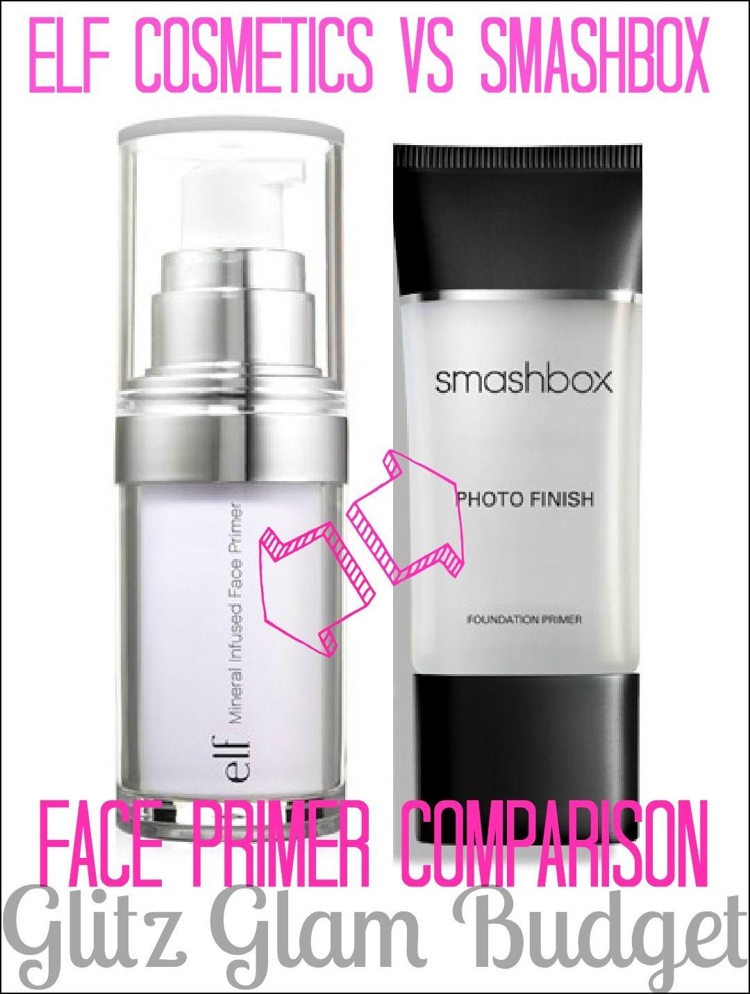 e.l.f. Studio Mineral Infused Face Primer VS Smashbox