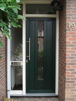 Lima plastic front door with side light