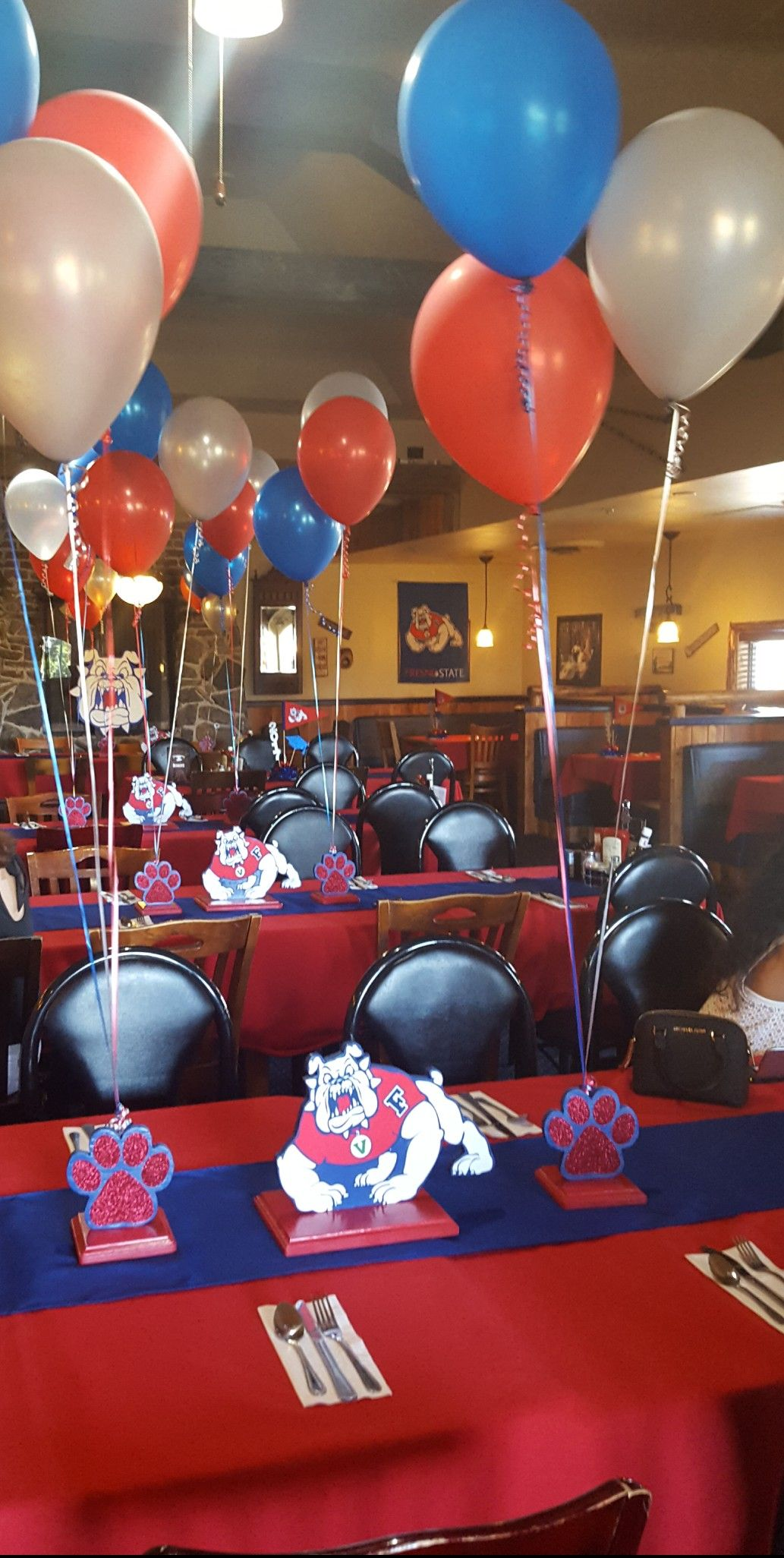 Fresno State Graduation Party Centerpieces Fresno State Grad Party
