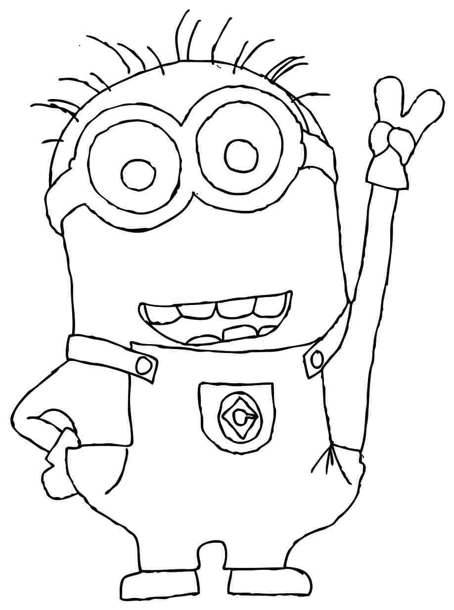Images For Gt Minions Black And White Coloring Page Free Anime