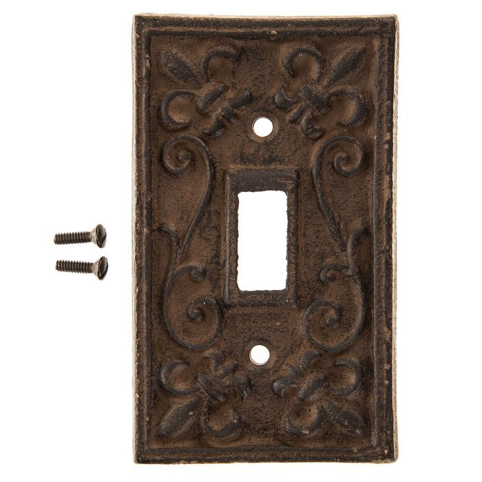 Rust Cast Iron Single Switch Plate Hobby Lobby 466151 In 2021 Switch Plates Light Switch Covers Diy Switch Plate Covers
