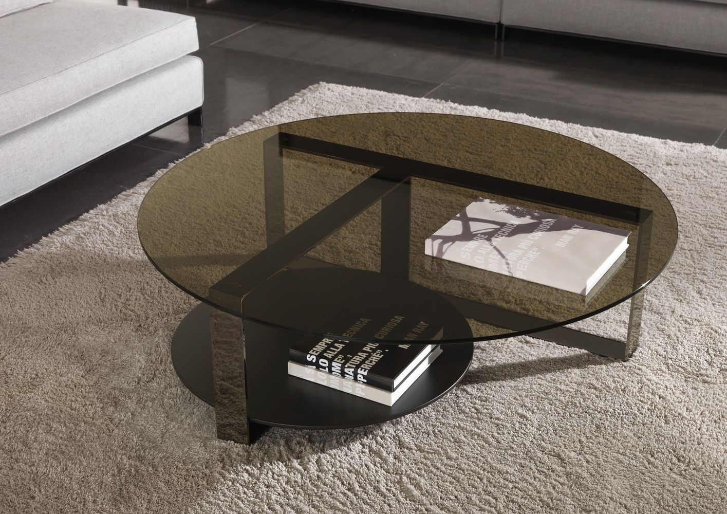 White Rug And Glass Top Table For Best And Cool Minotti Huber Coffee Table Design Coffee Table Glass Top Coffee Table Interior Decoration Accessories [ 1000 x 1415 Pixel ]