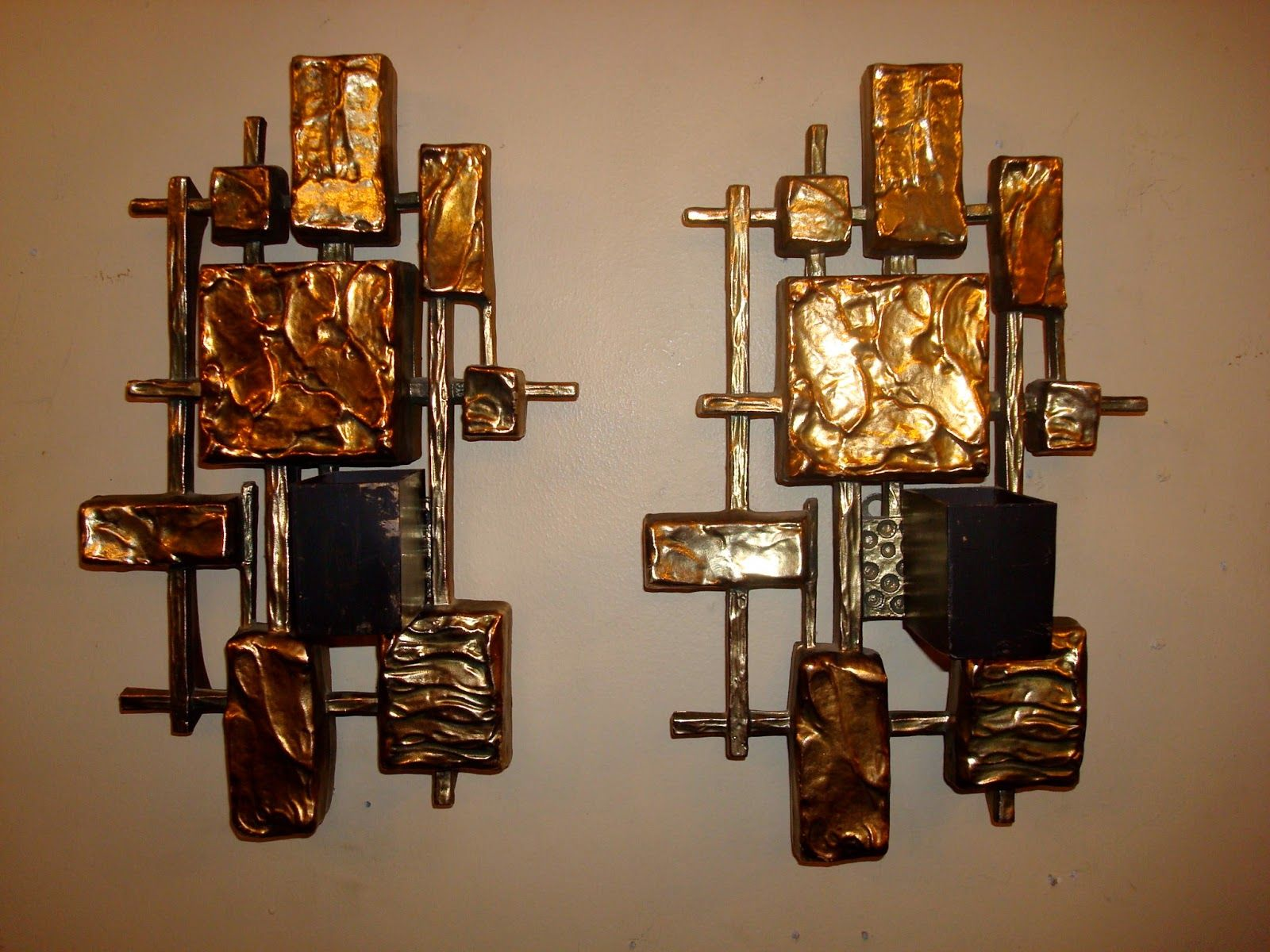 Unique gold square candle sconces for home lighting ideas house a good way to give a light for any room in the house a warm and inviting place is to enjoy candle wall sconce look amipublicfo Gallery