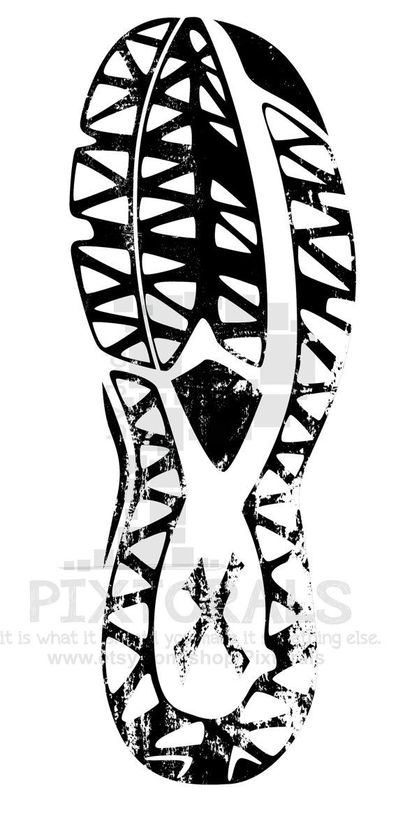 Track Shoe Tread Clipart Sketchy Eps File Vector And By Pixtorals