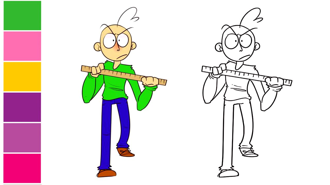 How To Draw Baldi Baldi S Basics Learn Colors And Teaching