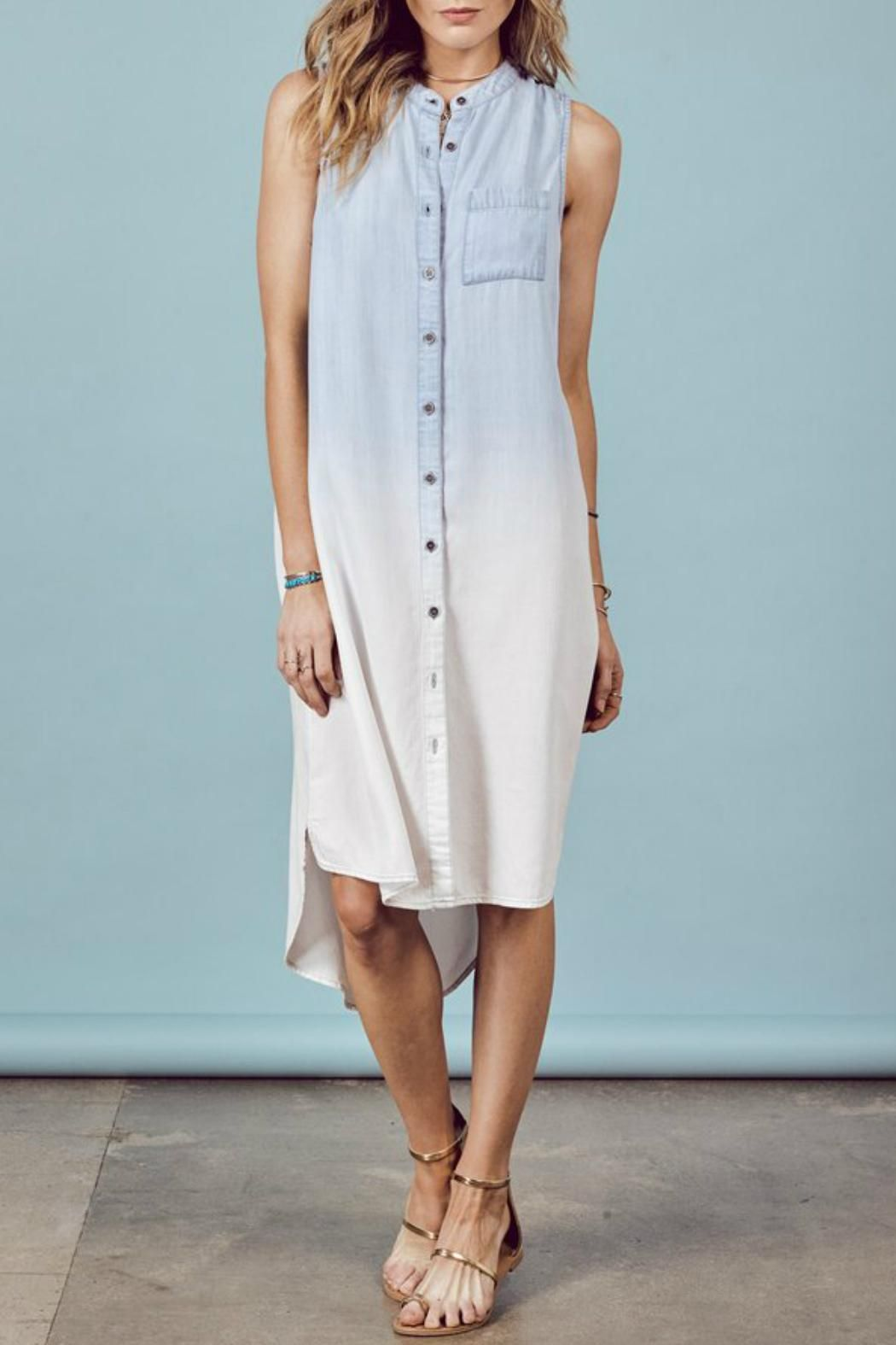 61487ec303708b Denim Spot Dipdye Shirt Dress