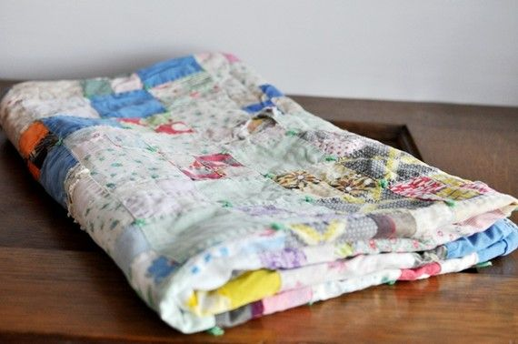 Vintage Scrap Cutter Quilt ~ estatehound * ANITA I want one of these please :)