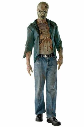 The Walking Dead Deluxe Decomposed Zombie Adult Halloween Costume - walking dead halloween costume ideas