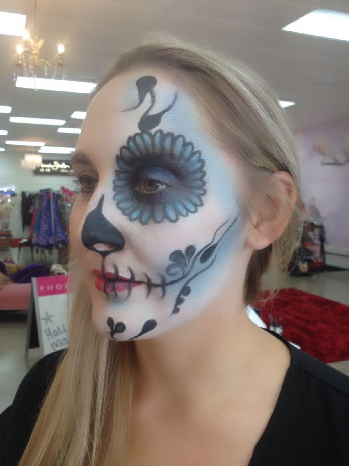 Sugar Skull Makeup for Halloween by Pink Lady Anita!