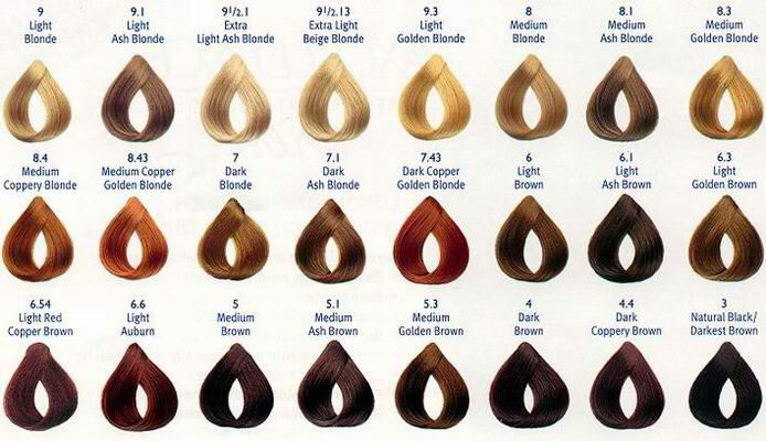 Hair Color Number Chart With Images Brown Hair Color Chart