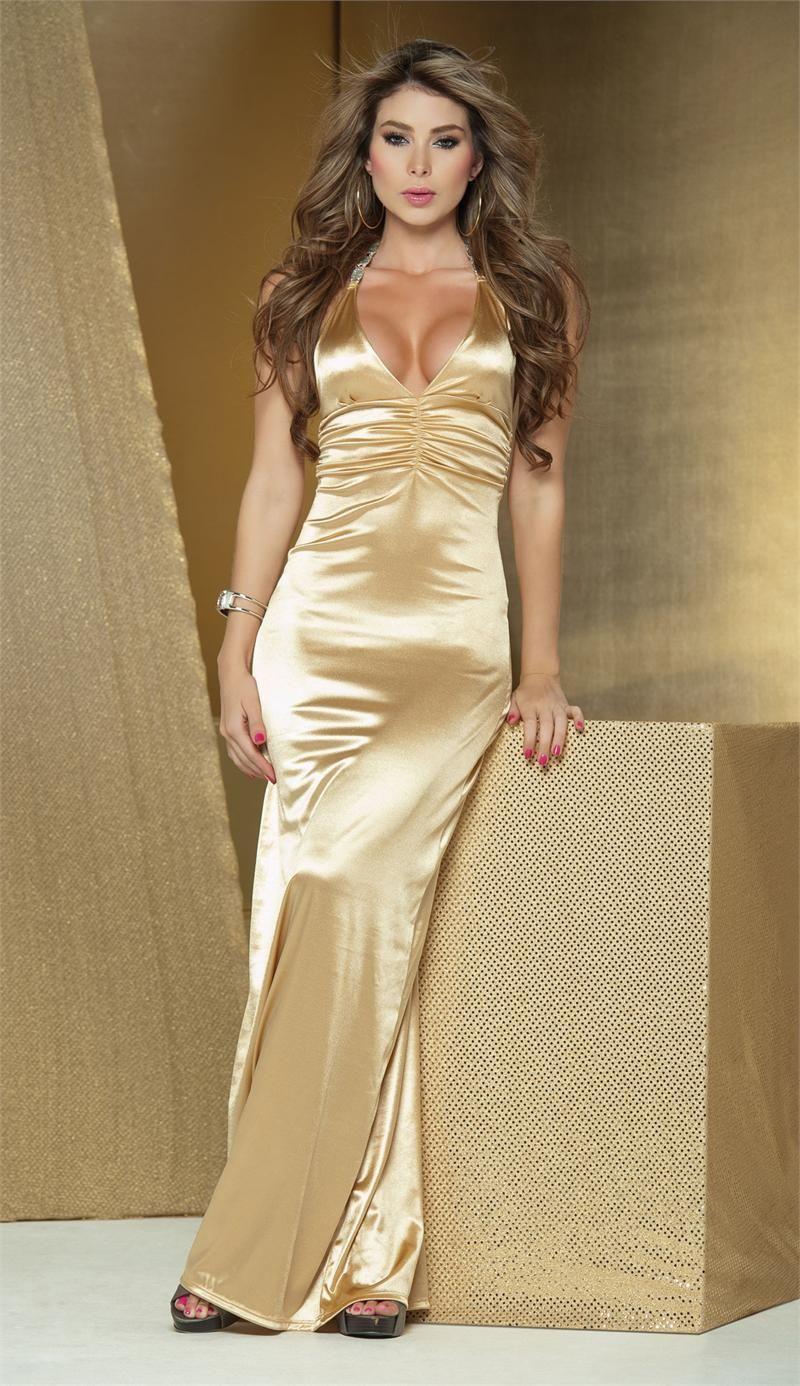 Gold Long Dress by PrettyPrincessJane on deviantART | Formal ...