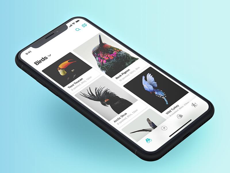Nature Watch Дизайн приложения, Дизайн и Приложения
