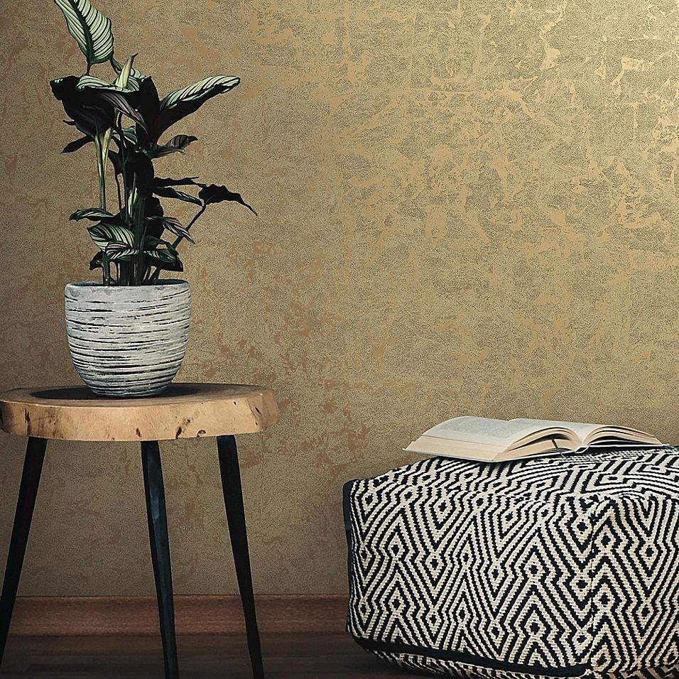 Roommates Gold Leaf Peel And Stick Wallpaper Bed Bath And Beyond Canada Gold Wallpaper Dining Room Gold Wallpaper Home Decor Peel And Stick Wallpaper
