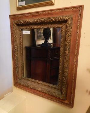 Antique Wood Frame Mirror