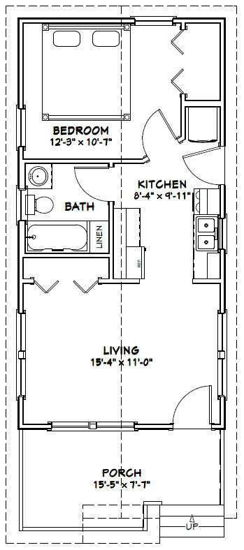 16x32 house 16x32h1l 511 sq ft excellent floor for 16x32 cabin floor plans