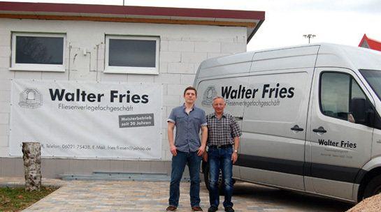 Alexander mit Vater Walter Fries