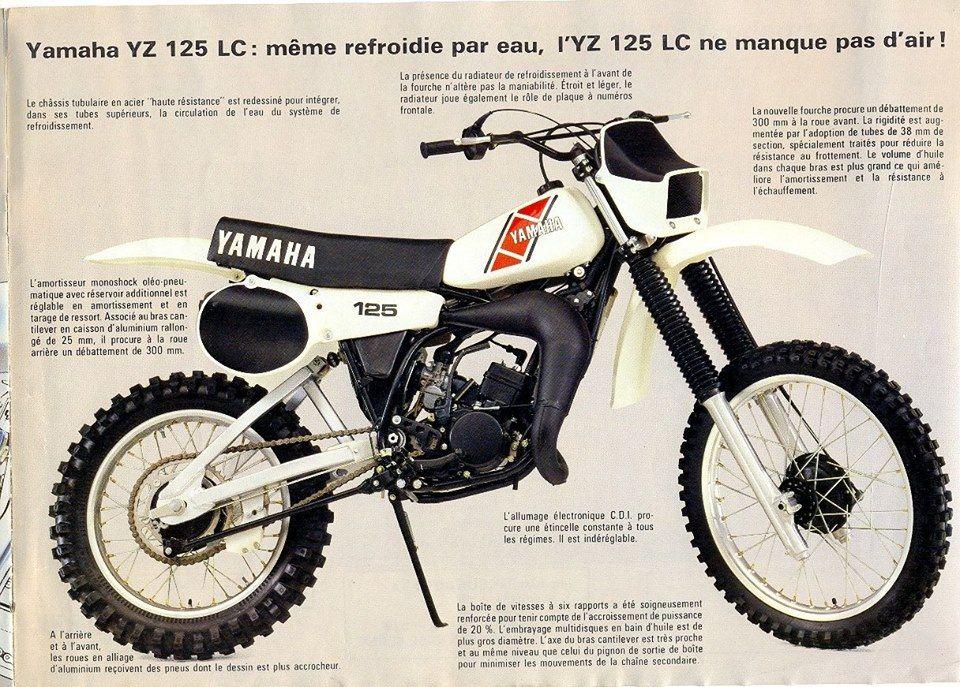 1983 Yamaha Yz Brochure From France Vintage Motocross Yamaha Bikes Classic Bikes
