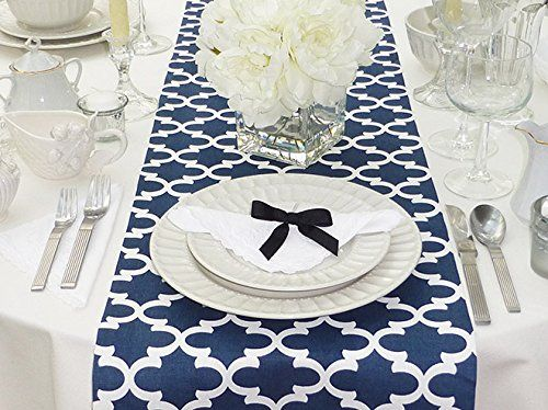 Modern Geometric Triangle Pattern Table Runner 12 X 72 Blue And Coffee Modern Table Runners Fabric Coffee Table Linen Table Runner