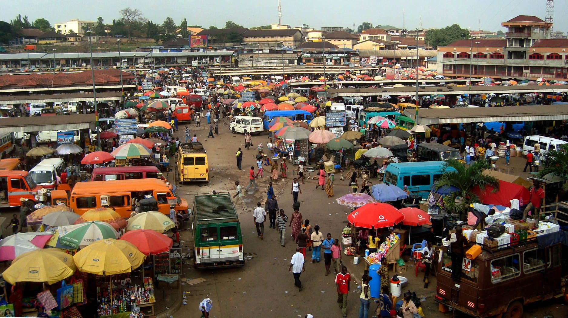 Kejetia Market Tours by Comfort of Four Villages Inn - destination-ghana.com feature things to do in Ghana