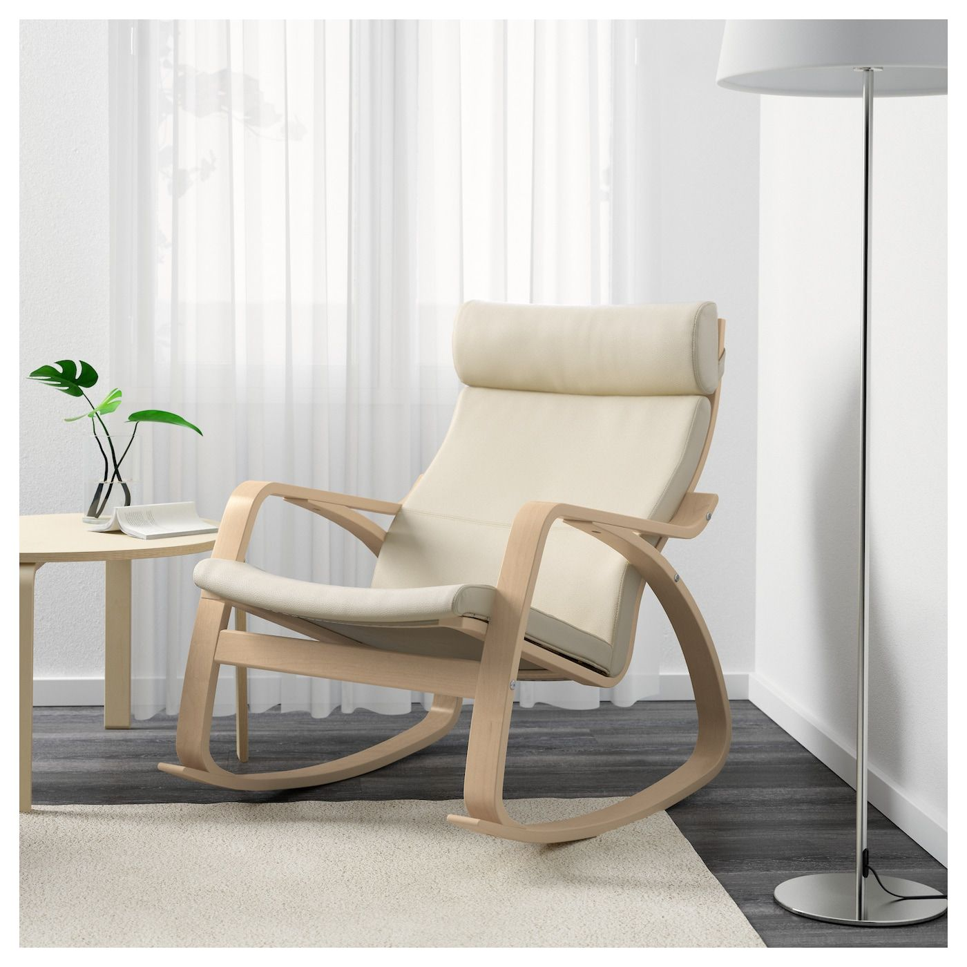 POÄNG Rocking chair, Glose off white, Width: 26 34