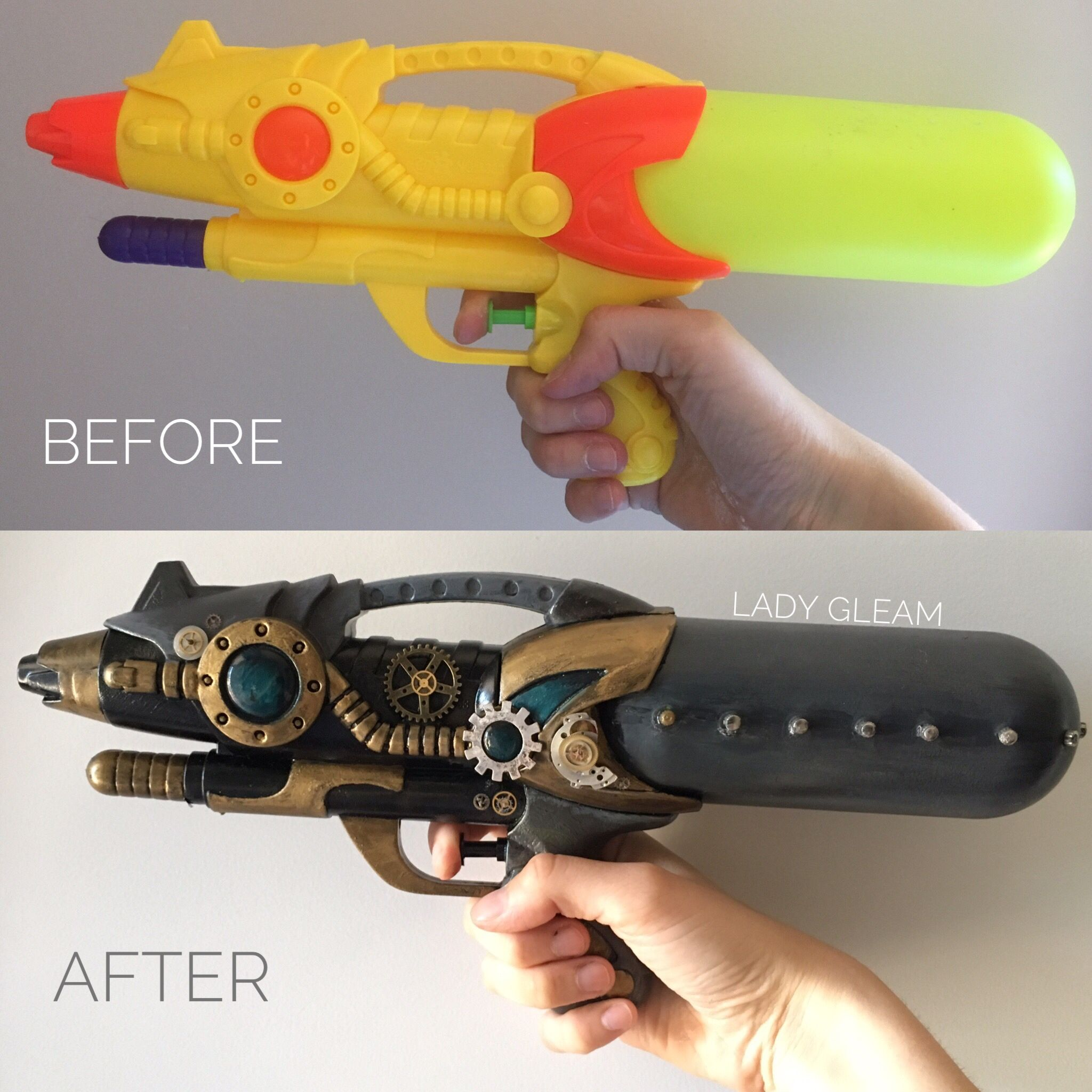 how to make a water gun in little alchemy