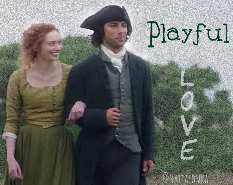 Ross trying not to laugh  Poldark 2015  Demelza & Ross